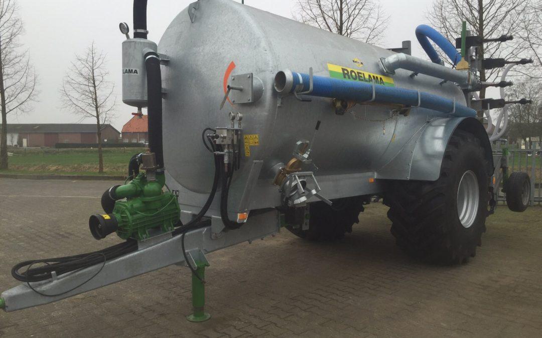 Nieuwe Roelama 10m3 bemestertank  met bouwlandinjecteur  voor Dhr. Bens