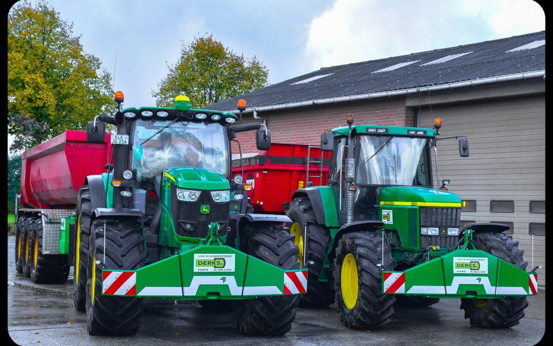 2 Nieuwe Sauter bumpers voor Loonbedrijf Derks te Haps.